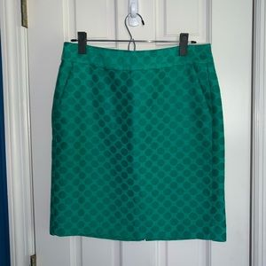 Banana Republic Green Dot Pencil Skirt
